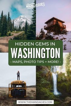Discover ALL the best things to do in Washington state here! We're covering all corners of the state, you'll want to read this before your next adventure! Places To Go In Washington State, Washington Hiking, Seattle Washington, Washington Tattoo, Washington Things To Do, Washington State Parks, George Washington, Places To Travel, Places To See