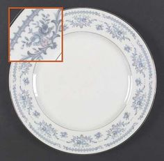 """Winsford"" china pattern with blue and pink flowers from Sango."