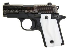 Sig Sauer P238 Pearl.  Compact, accurate, reliable, smooth...and absolutely gorgeous.