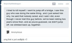 Aww. I want a cute love story like this. <3
