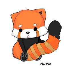 Chibi Red Panda | Red Panda by EchoHearts