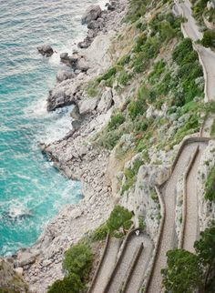 Walking Path Along the Cliffs of Capri   photography by http://www.lauraivanova.com/