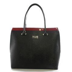 Dámská kabelka černo-červená lakovaná - Maggio Tatiana 49582742f26