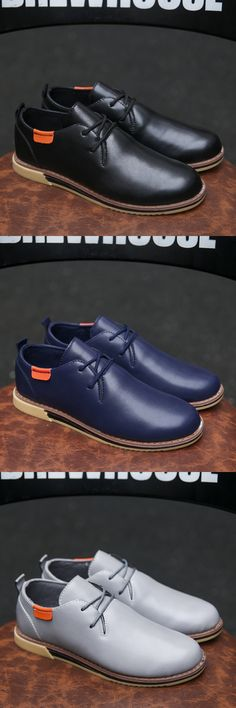 US $24 Man Casual Shoes Big Size Men Leather Shoes Good Quality Male PU Shoes Fit Spring Autumn Soft Leisure Zapato hombres