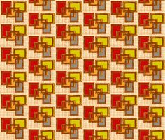 Mid century boxes fabric by hollywood_royalty on Spoonflower - custom fabric