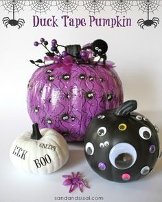 Duck Tape Pumpkin
