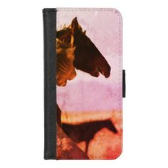 iPhone 8/7 Wallet Case from WILD HORSE OF UTAH - horse animal horses riding freedom