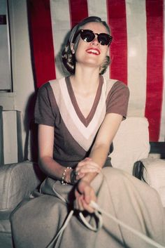 grace kelly is an absolute icon love her style, pringles of scotland ahs done a great sweaters in her style,