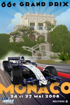 Formula 1 Racing Poster Illustrations on Behance