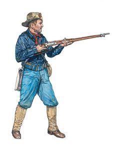 Soldado de los EE.UU., 19º Regimiento de Infantería, Puerto Rico, 1898.
