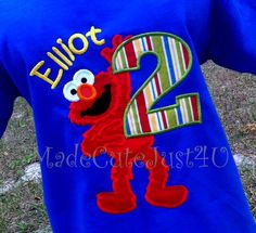 Personalized Elmo Birthday Shirt Full Body by madecutejust4u, $20.00