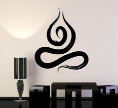Vinyl Mural Zen Buddhist Meditation Yoga Prayer Art Wall Decal Stickers (ig3319)