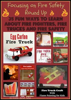 Tots and Me... Growing Up Together: Littles Learning Link Up: Focusing on Fire Safety Round Up #firesafety #fireprevention #firetrucks #firefighters #preschool #homeschool #roundup