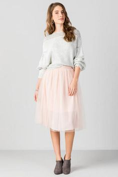 Angelica Tulle Midi Skirt