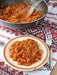 Mâncare de vinete cu roșii și ceapă - Lecturi si Arome Chapati, Chana Masala, Risotto, Macaroni And Cheese, Curry, Ethnic Recipes, Gluten, Food, Diet