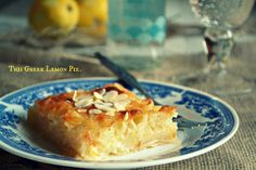 Lemon pie with syrupy Mastic Greek Sweets, Greek Desserts, Greek Recipes, Greek Cooking, Oranges And Lemons, Confectionery, Macaroni And Cheese, Food To Make, Deserts