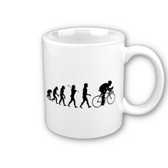c0512b8c Cycling Cyclist Evolution Bicycle Bicycling Coffee Mug - Huge selection of  funny sports and hobby evolution