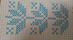 K Cross Stitch Borders, Cross Stitch Patterns, Weaving Patterns, Crochet Patterns, Graph Paper Art, Kutch Work, Tunisian Crochet, Bargello, Hand Embroidery