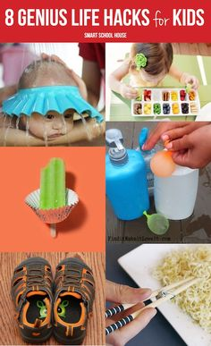 8 Genius Life Hacks for Kids!  I've heard of the stickers in the shoes and the ice cube trays, but not the other ones - genius!!