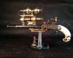 Ray Gun Steampunk Weapon Goth Cosplay by MichaelStephensArt