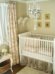 very pretty baby girl nursery