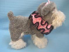 Pet Ruffle Collar Dog Cat  Pink/Black Tiny Handmade Crochet by Bren by…