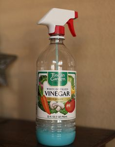 Best Bathroom Cleaner {and laundry stain remover} Ever! To make combine equal parts white distilled vinegar and blue dawn dish soap. Mix up and spray away! Remember, let it sit for a minute before scrubbing the grime away.