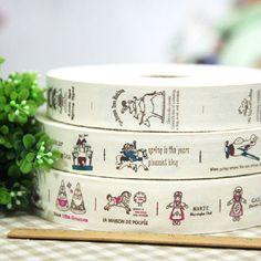 7.18€ Caballito - 3 diseños mezclan 100 % la cinta impresa algodón / Tejido hecho a mano de la cinta de costura de 3 cm - 3.5cm envío libre
