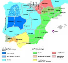 Ethnographic and Linguistic Map of the Iberian Peninsula at about 200 BCE (at the end of the Second Punic War).