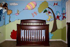 Dr Seuss nursery mural, part 1 of 2