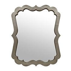 Elegant Scalloped Wood Grain Mirror, 40 x 31.5 | Kirklands