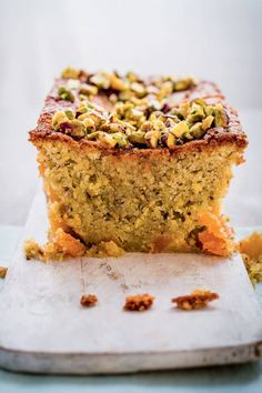 Pistachio, apricot and orange blossom cake - Here the flavours of pistachio, apricot and orange blossom are inspired by sweet Arabic dishes. The ground nuts give the cake a dense, moist texture; it also helps it keep for longer. Baking Recipes, Cake Recipes, Dessert Recipes, Desserts, Orange Blossom Cake Recipe, Dessert Arabe, Apricot Cake, Cupcake Cakes, Cupcakes