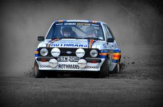 Ford Escort rallying Classic Race Cars, Ford Classic Cars, Ford Rs, Car Ford, Sports Car Racing, Sport Cars, Vintage Racing, Vintage Cars, Ford Motorsport