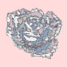 Blotted flower