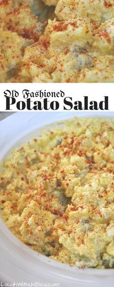 Old Fashioned Potato Salad--recipe passed down generations, so good! Old Fashioned Potato Salad--recipe passed down generations, so good! Homemade Potato Salads, Easy Potato Salad, Recipe For Mashed Potato Salad, Deviled Egg Potato Salad, Easy Salad Recipes, Salad Dressing Recipes, Potato Salad Recipes, Gold Potato Recipes, Potato Salad Dressing