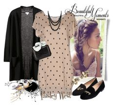 """""""See You Again"""" by paisleywest ❤ liked on Polyvore featuring LuckyLu, Bling Jewelry, Nancy Gonzalez, Jon Josef, Annoushka, flats, polkadot, cardigans and transitional"""