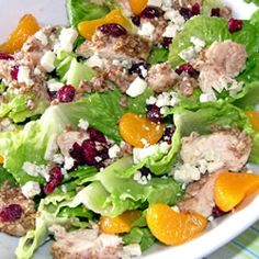 "Pecan Crusted Chicken Salad | ""My family loved this salad, even my 3 & 5 year old girls. I used more pecans than called for, but otherwise followed the recipe to the letter."""
