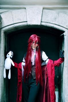 kuroshitsuji Grell Cosplay - COSPLAY IS BAEEE!!! Tap the pin now to grab yourself some BAE Cosplay leggings and shirts! From super hero fitness leggings, super hero fitness shirts, and so much more that wil make you say YASSS!!!