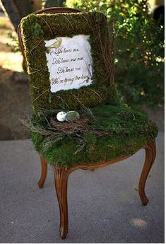 beautiful mossy chair