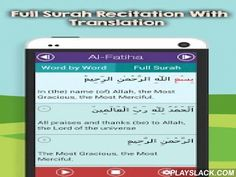 Surah Fatiha & More Surahs  Android App - playslack.com ,  This Kids App consists of Surah Fatiha and other 9 short Surahs from Quran which teaches muslim kids how to learn Quran effectively. These Chapters of the Sacred Book can be read Word by Word along with Audio Recitation, Translation, and Transliteration, which makes understanding of Quran Kareem easier for the toddler.FeaturesSome of the most exceptional characteristics of this mobile phone app are:• Easy to understand User Interface…