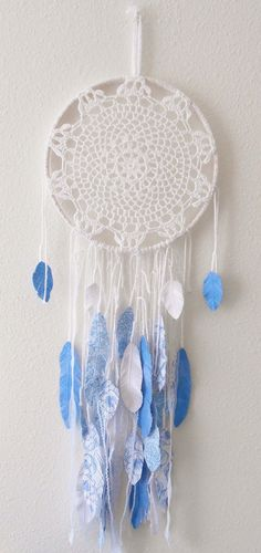Modern Dream Catcher with Paper Feathers