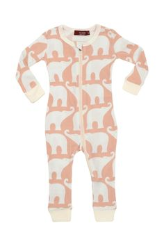 08979344fe3 Milkbarn Kids Organic Zipper Pajama - Main Image Long Sleeve Playsuit
