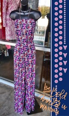 Bobeau Jumpsuit M - Here is a #musthave jumpsuit for spring! So cute and comfy! Strapless bandeau neck with 2 front curved pockets! So cute!  - $28 #bobeau #jumpsuit #spring #socute #musthave #ShopPosh #consignment #boutique