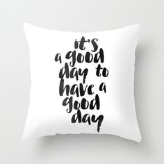 Throw Pillow Cover Modern Home Decor Teen Room Black White Gift Typography Pillow 18x18 Handwriting Typography Quirky Word Pillow Covers