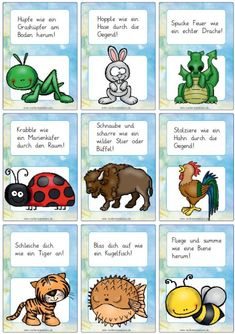 Animal movement fun – Zaubereinmaleins Shop – Famous Last Words Kindergarten Activities, Preschool, Animal Movement, Martial Arts Styles, Action Words, Montessori Materials, Yoga For Kids, Kids And Parenting, Exercises