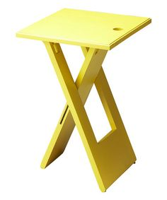 Look what I found on #zulily! Mango Wood Folding Table #zulilyfinds Cute for dorm