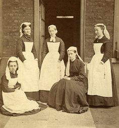 This is the earliest known photo of Great Ormond Street Hospital nurses, taken in 1878. #GOSHistory
