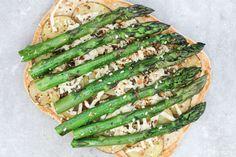 Roast Potato Lemon and Herb Pizza with Asparagus - 12 Health
