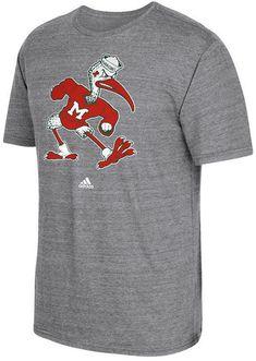 adidas Men s Miami Hurricanes Vintage Logo T-Shirt Miami Hurricanes 1df7a7c7e