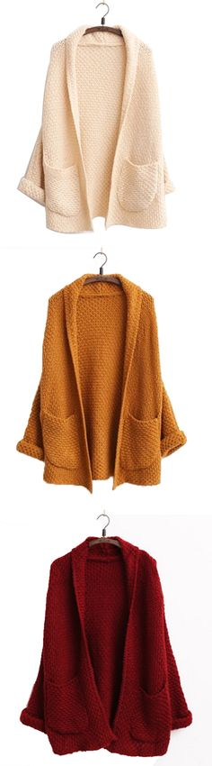 We've got the cardigan. This sweater is made in a soft fabric and features pockets, open front and hood for extra warmth. Fashion Mode, Look Fashion, Womens Fashion, Fashion Fall, Looks Style, Style Me, Moda Crochet, The Cardigans, Fall Outfits